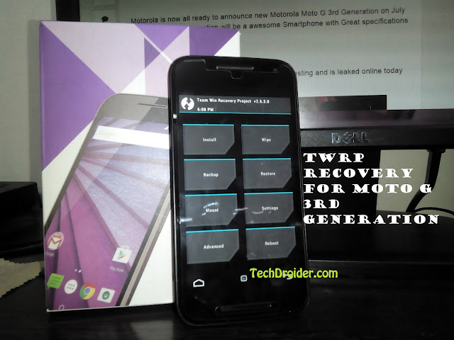 How to install TWRP recovery on Moto G 3rd Generation