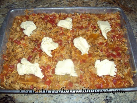 Eclectic Red Barn: Mexican Hot Dish with butter on top