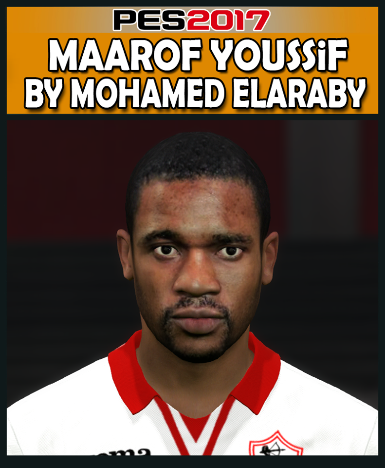 PES 2017 Maarof Youssif (Zamalek) Face by M.Elaraby Facemaker