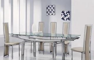 Italian Glass Dining Table