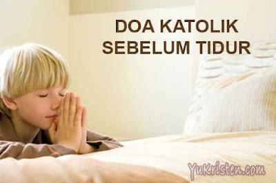 doa katolik sebelum tidur