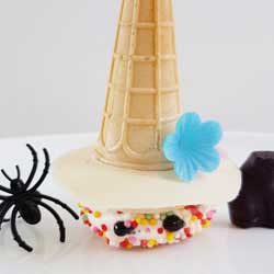 how to make witches hat no cook halloween food DIY tutorial