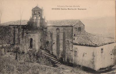 Santa María del Naranco, postal, Oviedo.