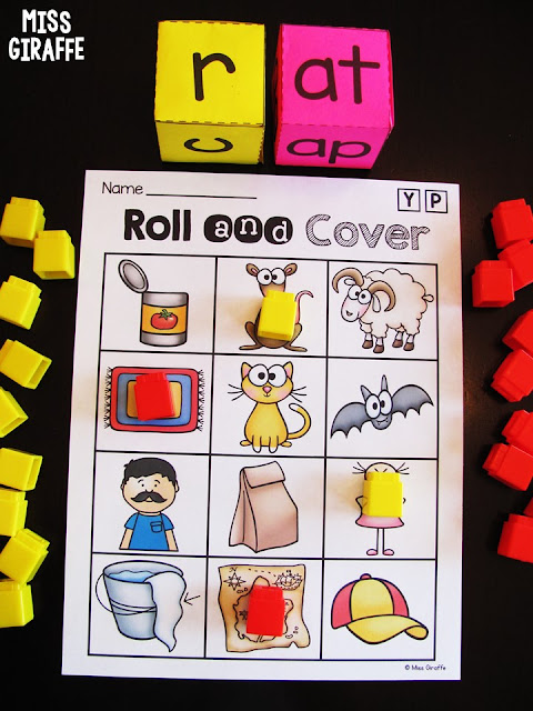 Fun CVC Words games to practice reading and blending word families
