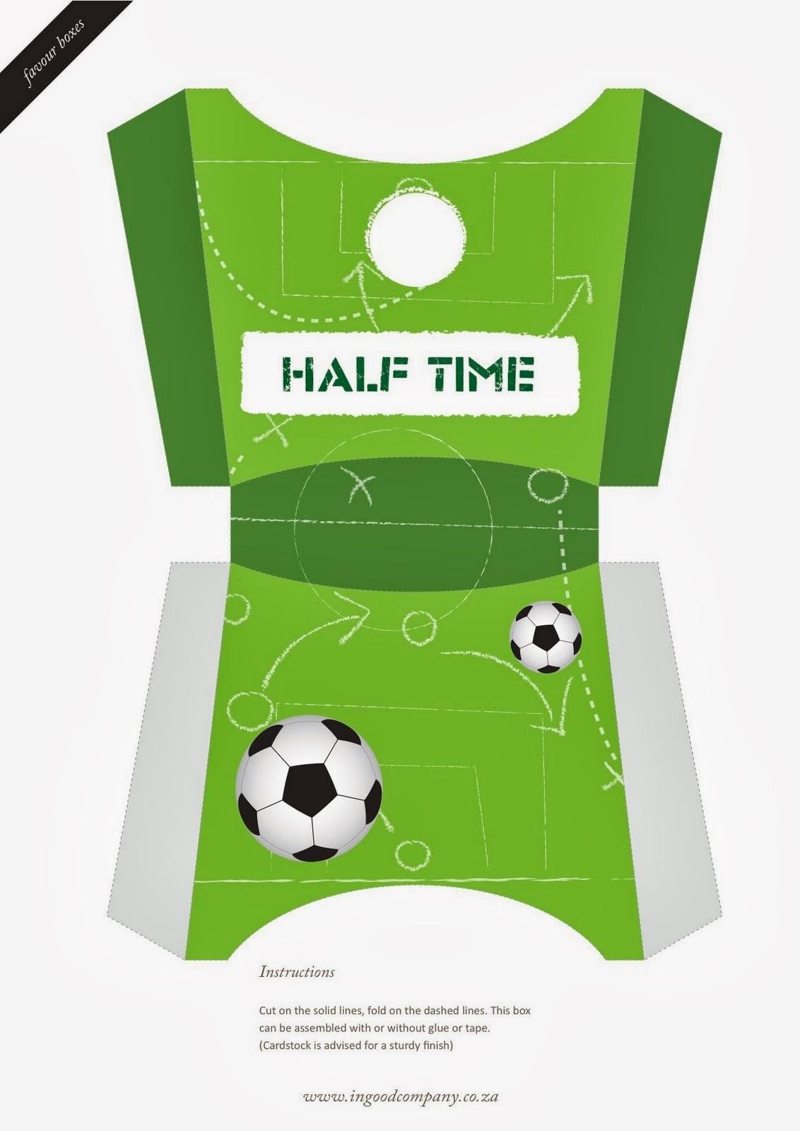 Kit para fiestas de futbol para imprimir gratis ideas for Cajas personalizadas con fotos