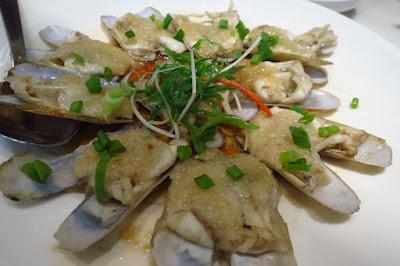 Putien, steamed duotou clams garlic