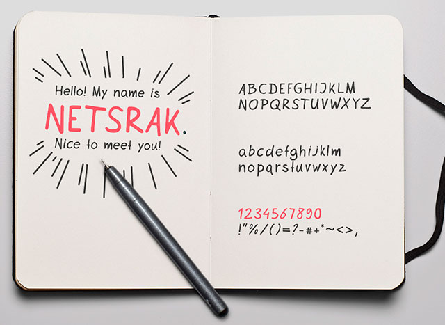 Netsrak_Free_Font