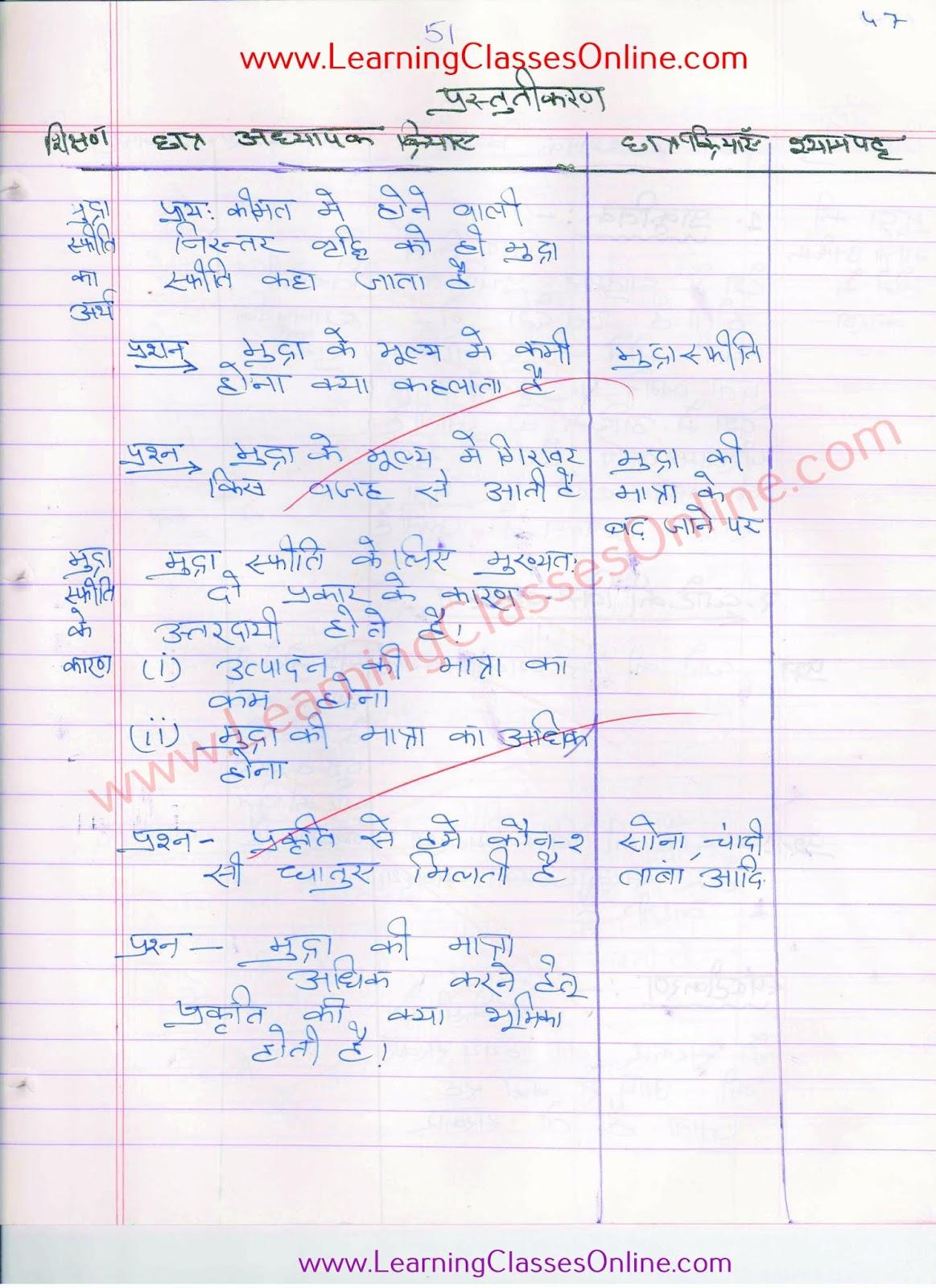 mudra safiti lesson plan in hindi