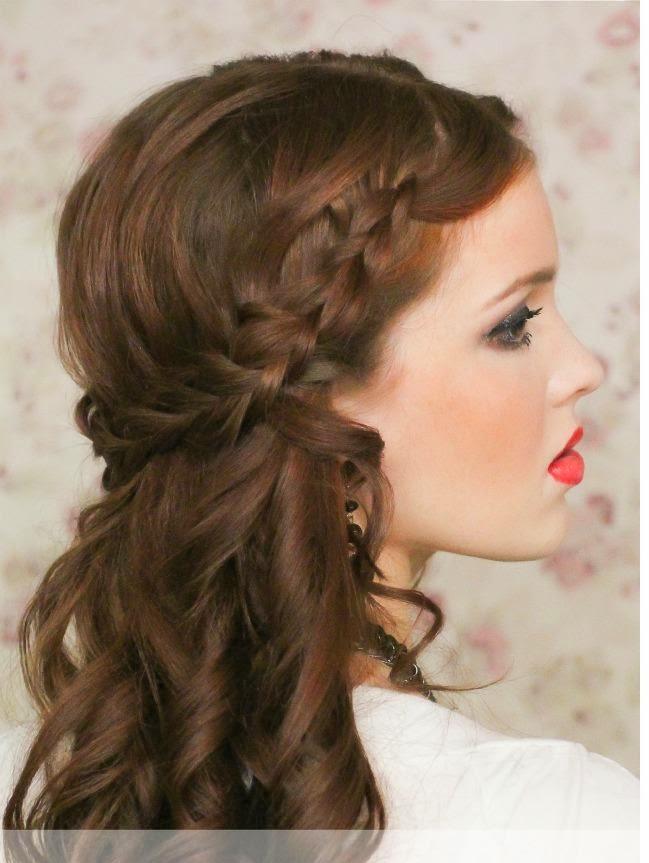 Coiffure Simple Coupe Cheveux Simple. Coiffure Simple Et Rapide Avec Tresse