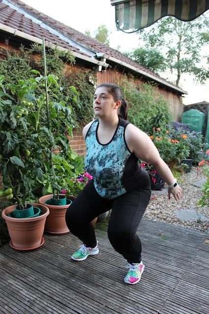 squats black leggings vests sports