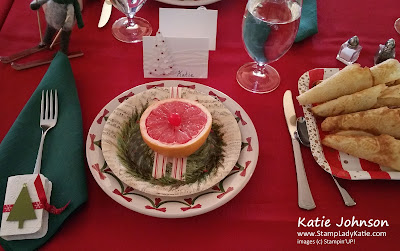 Tablesetting place card made with Stampin'UP In the Woods dies and Swirly Scribbles dies