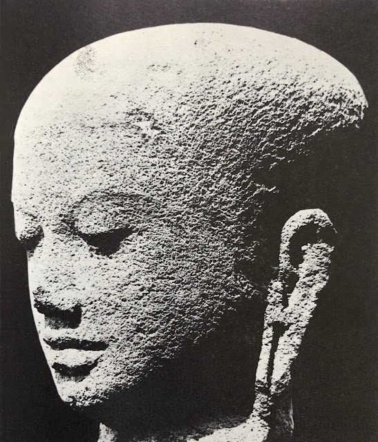 9th century monk's head, Chandi Plaosan, Java, The Art of Southeast Asia by Philip Rawson, Thames & Hudson, 1967