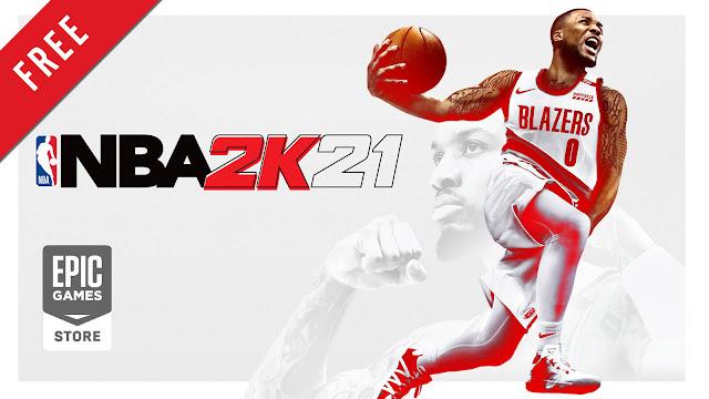 nba 2k21 free pc game epic games store basketball sports simulation game visual concepts 2k games zhekun inc