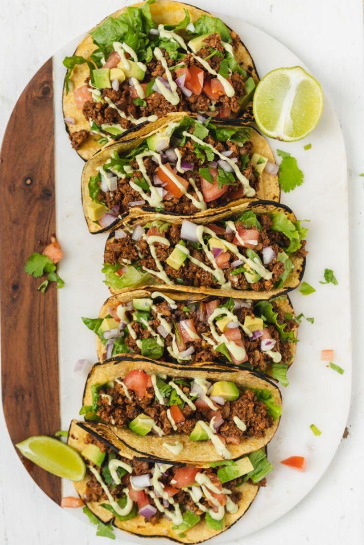 Mushroom Walnut Vegan Taco Meat