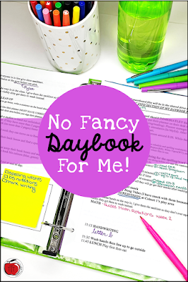 Don't buy a teacher planner. Instead make your own with all your routines and procedures typed out.