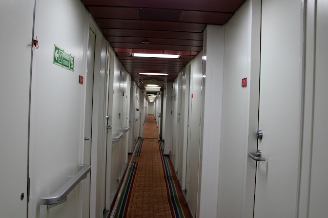 long path of cabins