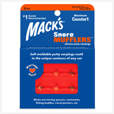 pair of Mack's earplugs