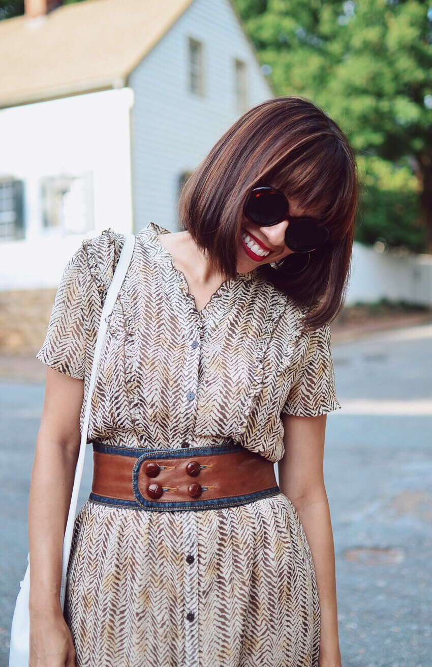 Bob haircut with bangs street style