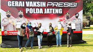 Upaya Polda Jateng Gelar Gerai Presisi Percepat Vaksinasi Direspon Masyarakat Semarang