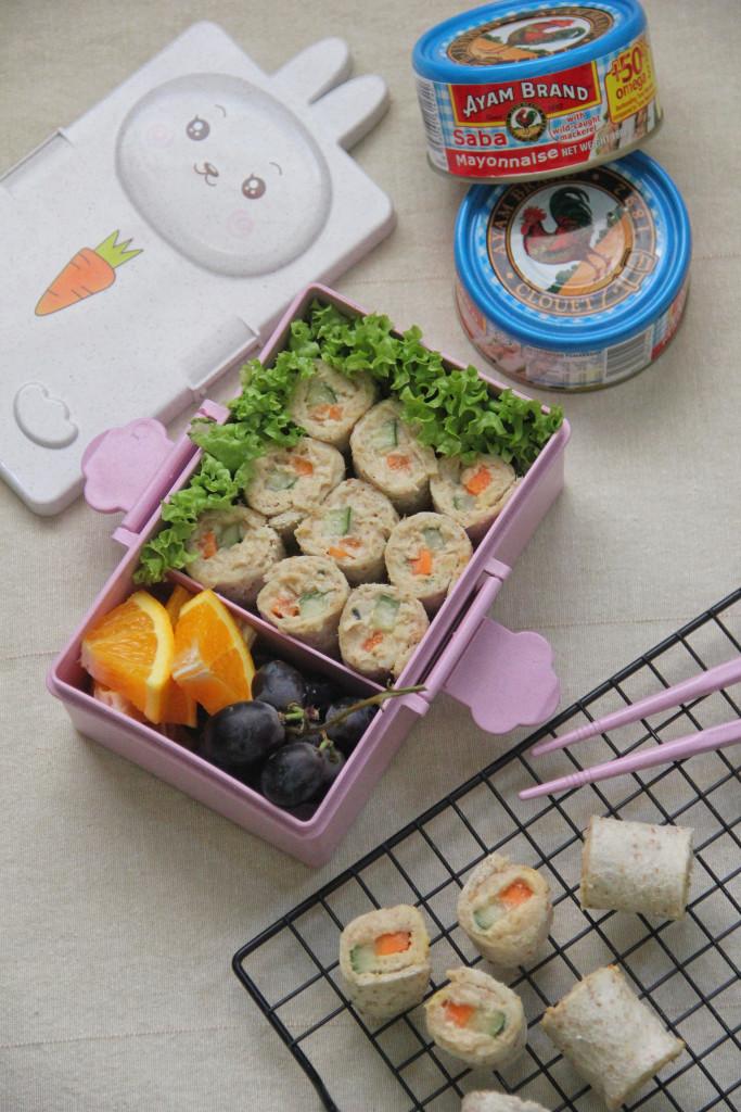 Resepi Sushi Roll Saba Mayo