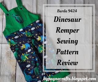 Burda 9424 Dinosaur Romper Sewing Project