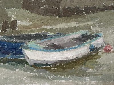#27 'Two Boats, Emsworth' 6×8″