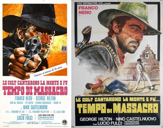 Italian posters for Lucio Fulci's Massacre Time