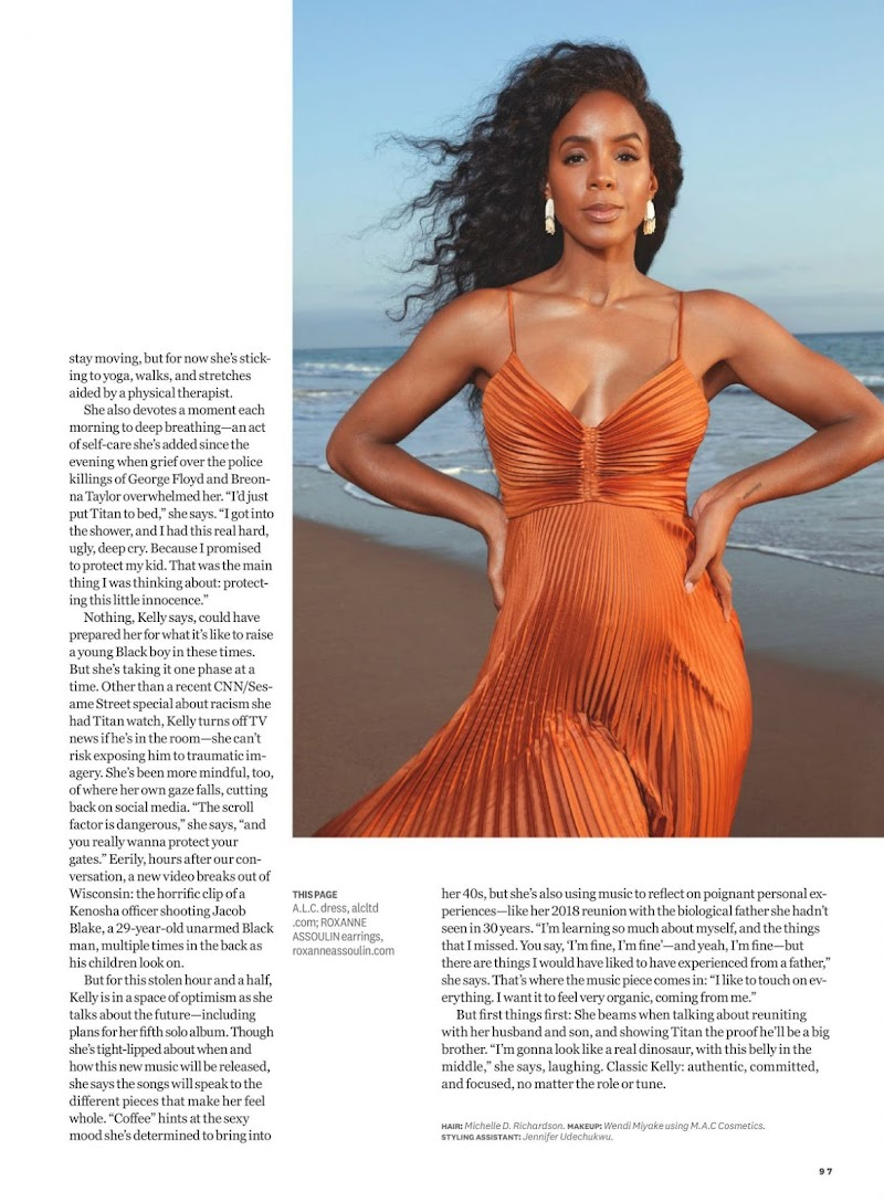Pregnant Kelly Rowland Featured in Women's Health Magazine - November 2020