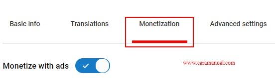 Monetization - YouTube