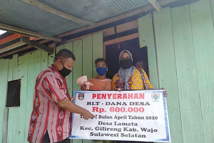 Desa Lamata Wajo Salurkan Bantuan Tunai