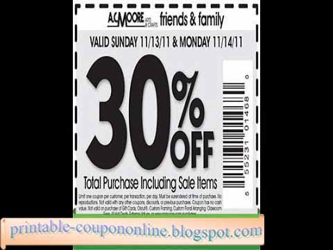 picture about Ac Moore Printable Coupon Blogspot identify Acmoore com discount codes : Carnival economical aprons