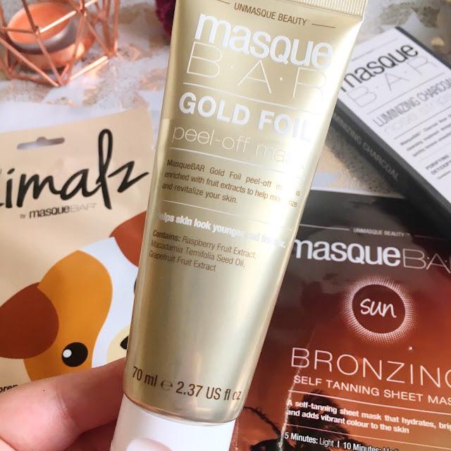 MasqueBAR gold peel off mask
