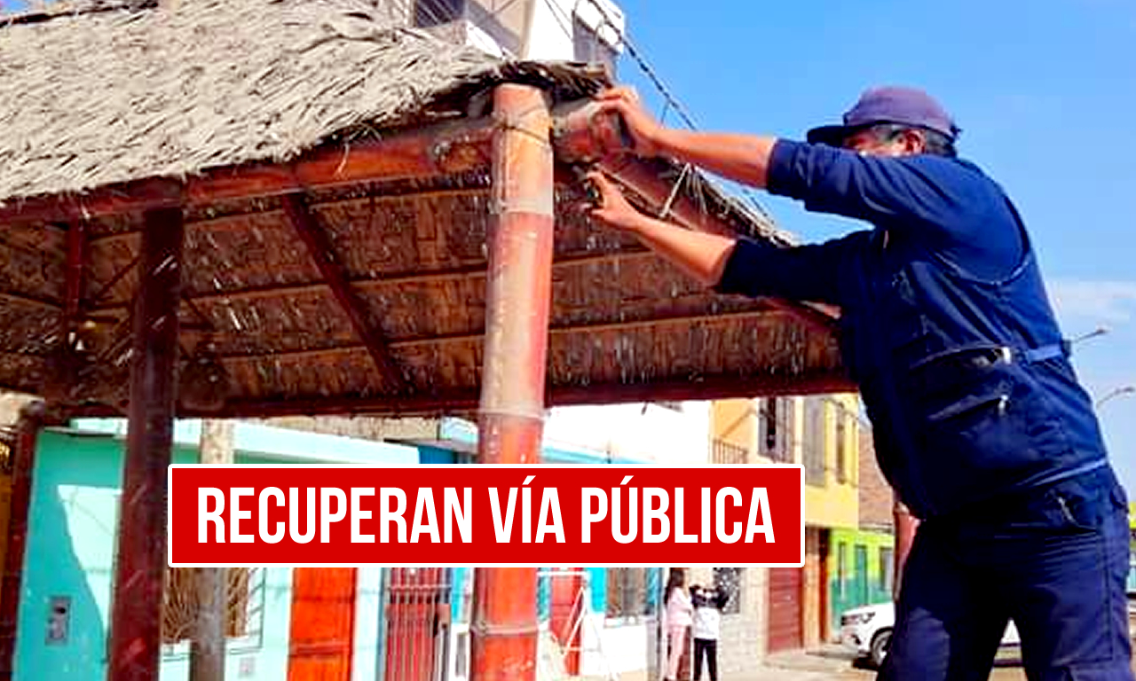 Pueblo Nuevo - Chincha recupera vías públicas en el Distrito