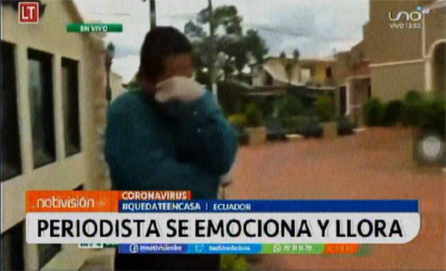 Coronavirus: Periodista se emociona hasta las lágrimas pidiendo a la gente que no salga de sus casas