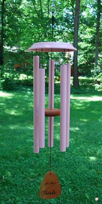 pink windchimes