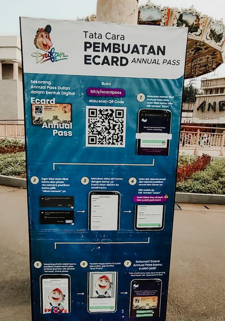 pengalaman membuat ecard annual pass dufan