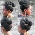 Protective Style Lookbook | | 4C Roll, Tuck, and Pin Natural Updo