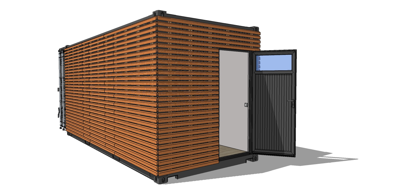 Container am nag studio terrasse bois for Container en bois
