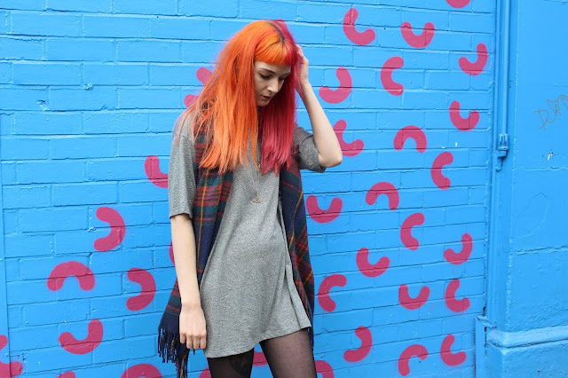 Topshop oversized T-shirt Dress