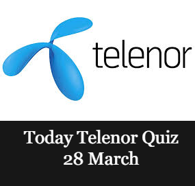 Telenor answers 28 March 2021 |Today Telenor Quiz 28 March | Telenor Skill Test Today