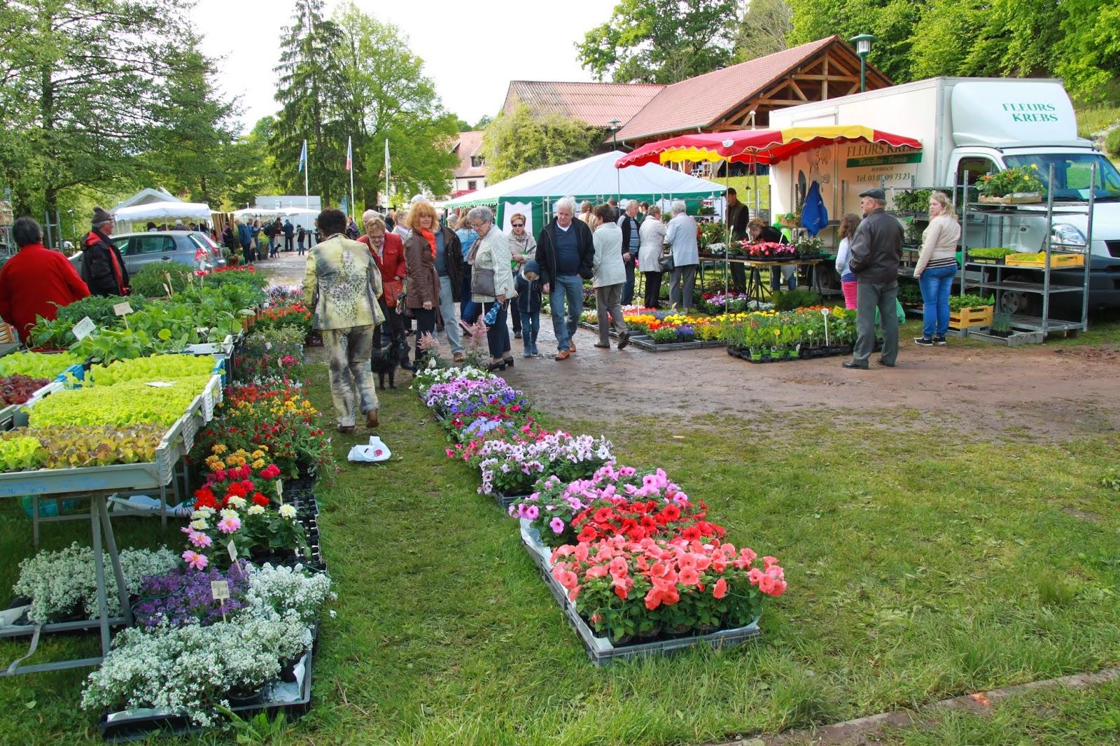 Volmunster Info Succès du marché des fleurs