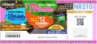 Kerala Lottery Results: 05-02-2021 Nirmal NR-210 Lottery Result