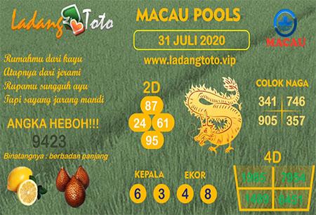 Prediksi Ladang Toto Macau Pools Jumat 31 Juli 2020