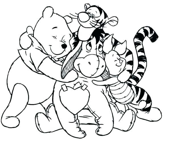 Winnie The Pooh y sus amigos para colorear.