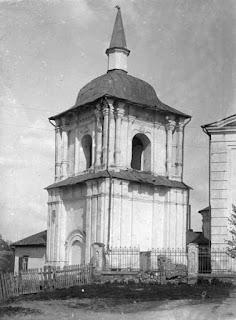 Полтава. Свято-Николаевская церковь. Колокольня 1784 г. Фото 1908 г.