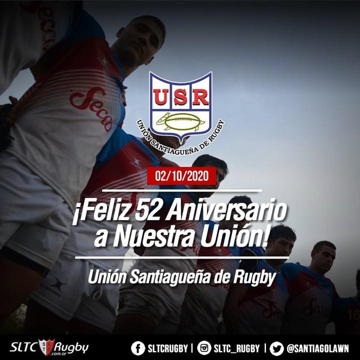 La Unión Santiagueña de Rugby festeja 52 años de vida