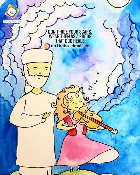 Scars - Sai Baba Doodle Art Showcase