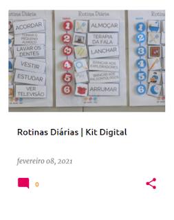kit digital para ajudar a organizar as rotinas diárias