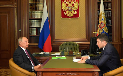 Meeting with Acting Governor of Kaliningrad Region Anton Alikhanov.