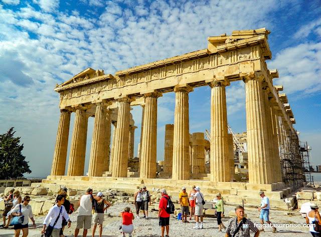 O Parthenon, na Acrópole de Atenas, Grécia